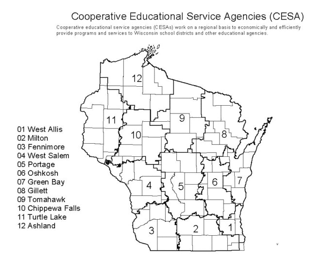 WCTE Districts – Wisconsin Council of Teachers of English